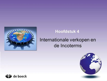 Internationale verkopen en de Incoterms