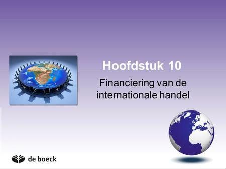 Financiering van de internationale handel