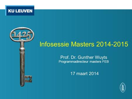 Infosessie Masters Prof. Dr