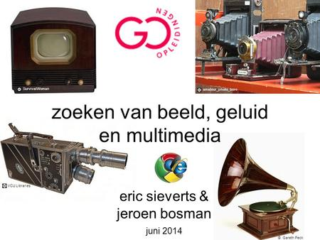 Zoeken van beeld, geluid en multimedia eric sieverts & jeroen bosman juni 2014 SurvivalWoman © Gareth Peck amateur_photo_bore VCU Libraries.