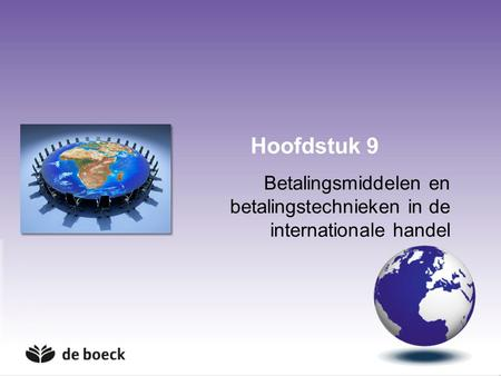 Betalingsmiddelen en betalingstechnieken in de internationale handel