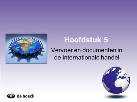 Vervoer en documenten in de internationale handel