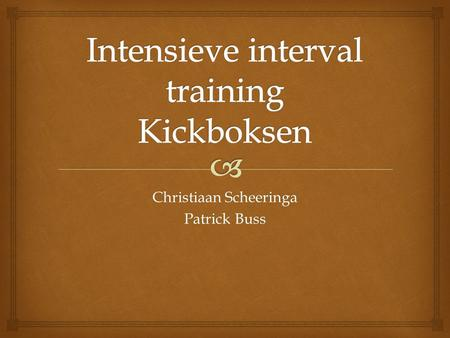 Intensieve interval training Kickboksen