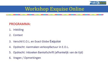 Workshop Exquise Online