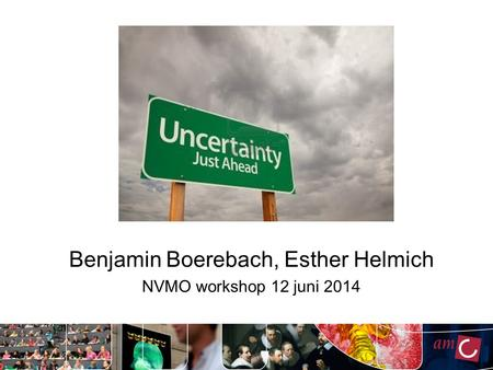 Benjamin Boerebach, Esther Helmich NVMO workshop 12 juni 2014.