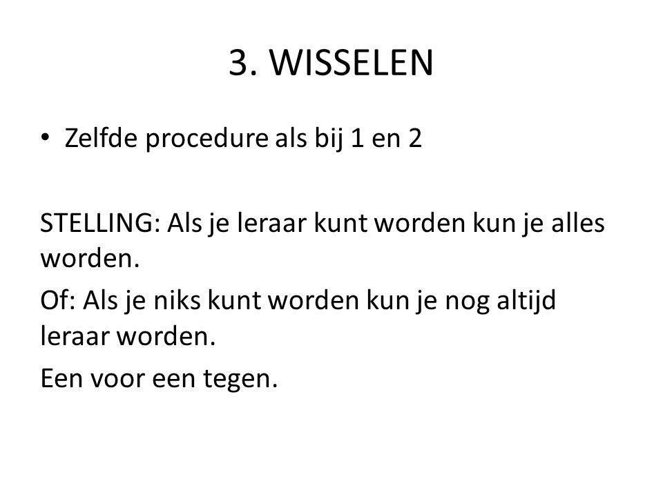 4.ONTMOETINGEN Tweetallen: V-W en wissel Conflict: leerling is regelmatig te laat.