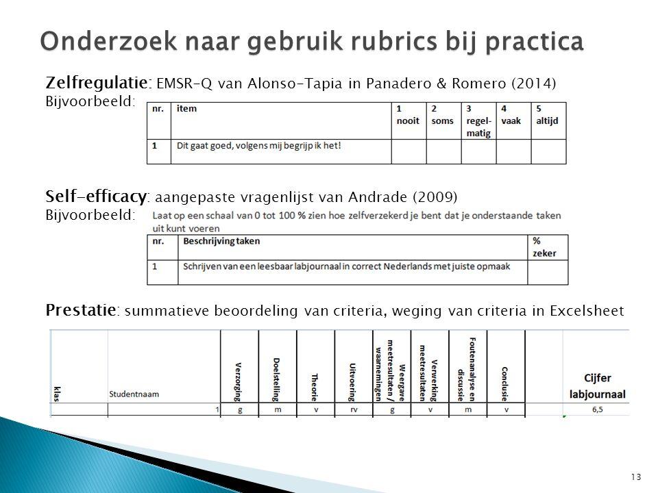 14 Eerste resultaten onderzoek Onderzoek naar gebruik rubrics bij practica Voor man en vrouwVoor wisk B en wisk A Géén significant verschil tussen wisk B-wisk A en man-vrouw Gebruik van rubrics: 1.