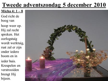 Tweede adventszondag 5 december 2010
