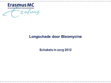 Longschade door Bleomycine