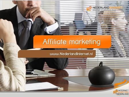 Titelblad Affiliate Marketing Affiliate marketing www.NederlandInternet.nl.