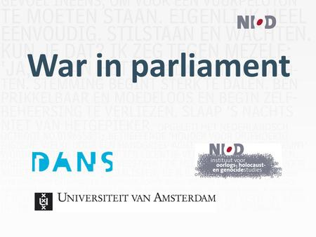 War in parliament. Gefinancierd door: 2 Tools? Queries? Data? Metadata? Wildcards? Lucene? Booleaans?