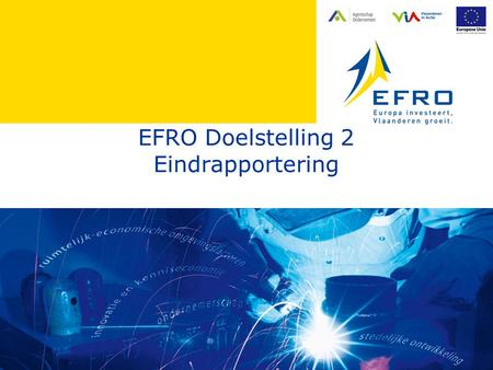EFRO Doelstelling 2 Eindrapportering