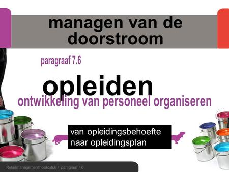 managen van de doorstroom