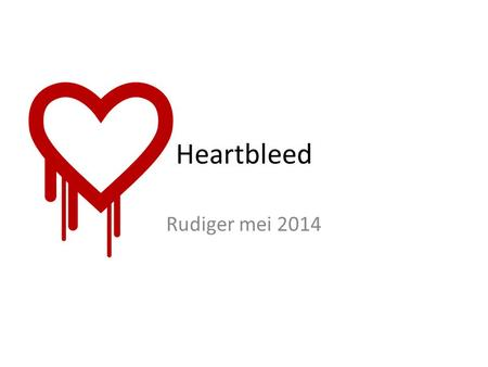 Heartbleed Rudiger mei 2014. Het web   tekst en links html:1990 gestructureerde pagina's Robert Cailliau (Tongeren, 26 januari 1947)