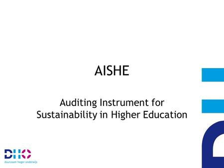Auditing Instrument for Sustainability in Higher Education
