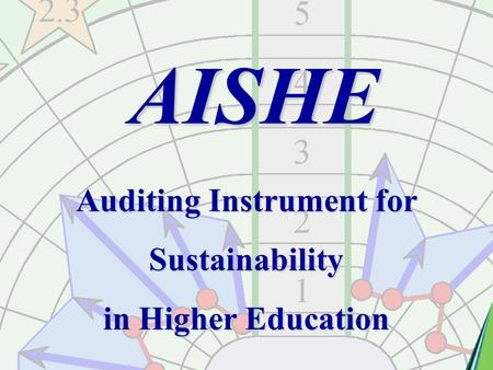AISHE Auditing Instrument for Sustainability in Higher Education.
