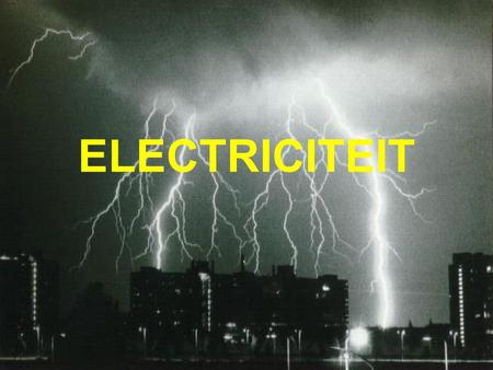 ELECTRICITEIT.