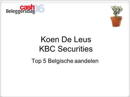 Koen De Leus KBC Securities