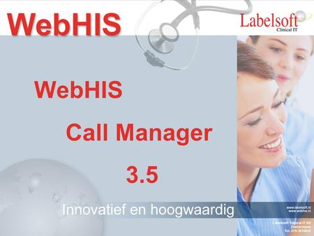 WebHIS Call Manager 3.5.
