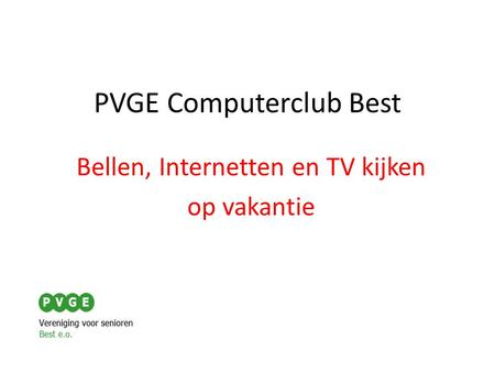 PVGE Computerclub Best