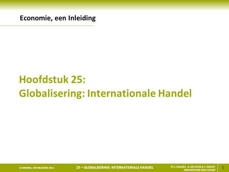 Hoofdstuk 25: Globalisering: Internationale Handel