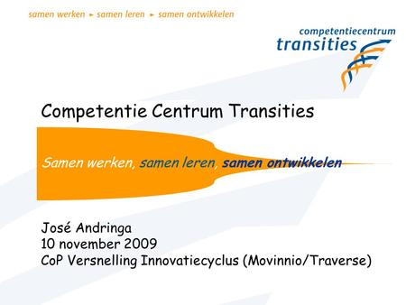 Competentie Centrum Transities