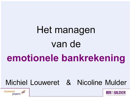 emotionele bankrekening