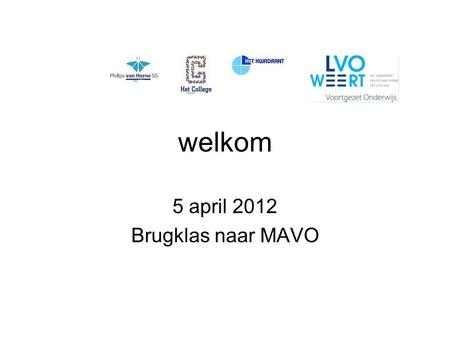 5 april 2012 Brugklas naar MAVO