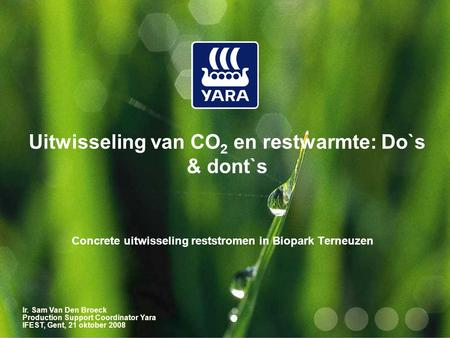 Uitwisseling van CO2 en restwarmte: Do`s & dont`s