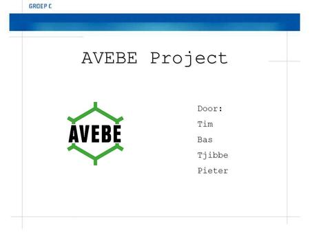AVEBE Project Door: Tim Bas Tjibbe Pieter.