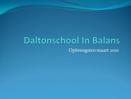 Daltonschool In Balans