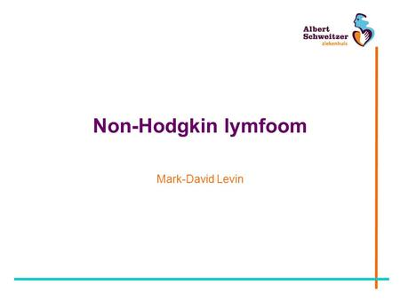 Non-Hodgkin lymfoom Mark-David Levin.