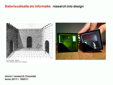 Datavisualisatie als informatie: research into design