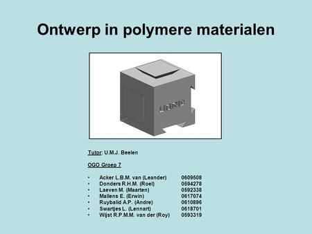 Ontwerp in polymere materialen