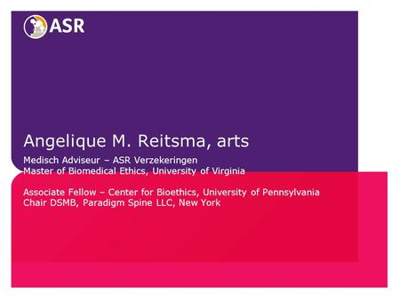 Angelique M. Reitsma, arts