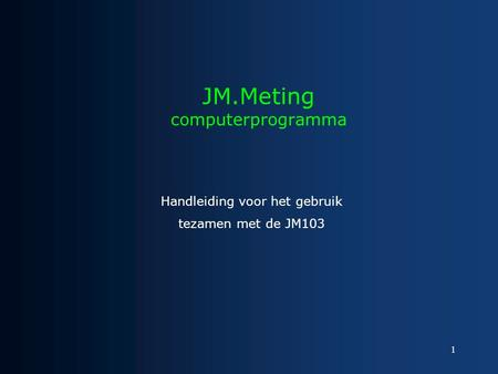 JM.Meting computerprogramma