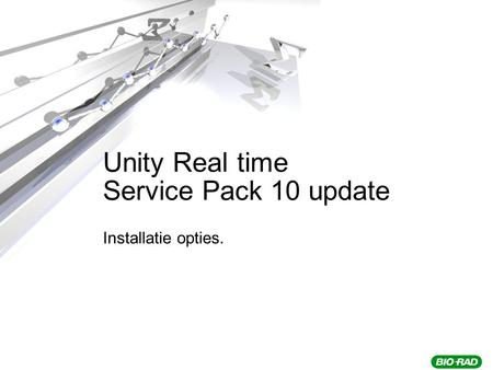 Unity Real time Service Pack 10 update Installatie opties.