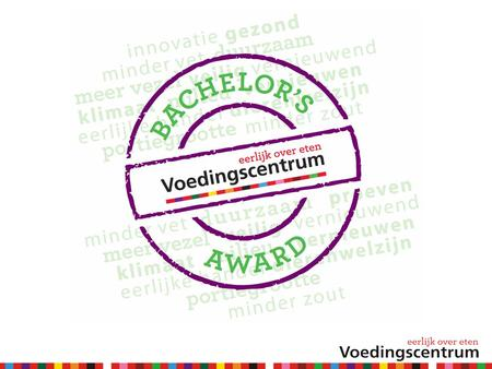 Voedingscentrum Bachelor's Award