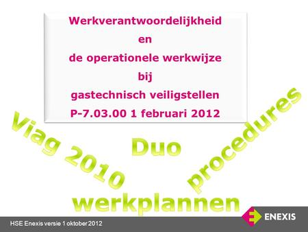 procedures Duo werkplannen Viag 2010