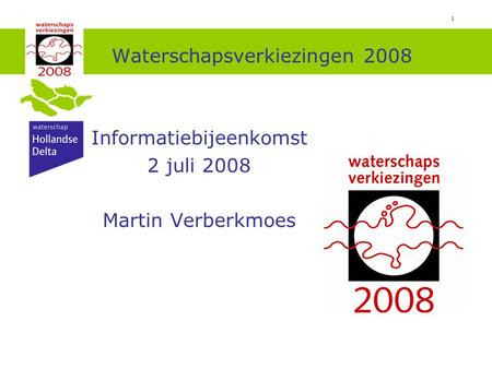 Waterschapsverkiezingen 2008