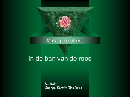Maria presenteert In de ban van de roos Muziek: George Zamfir The Rose.