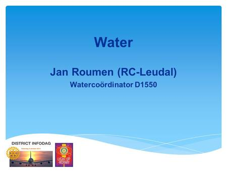 Water Jan Roumen (RC-Leudal) Watercoördinator D1550.