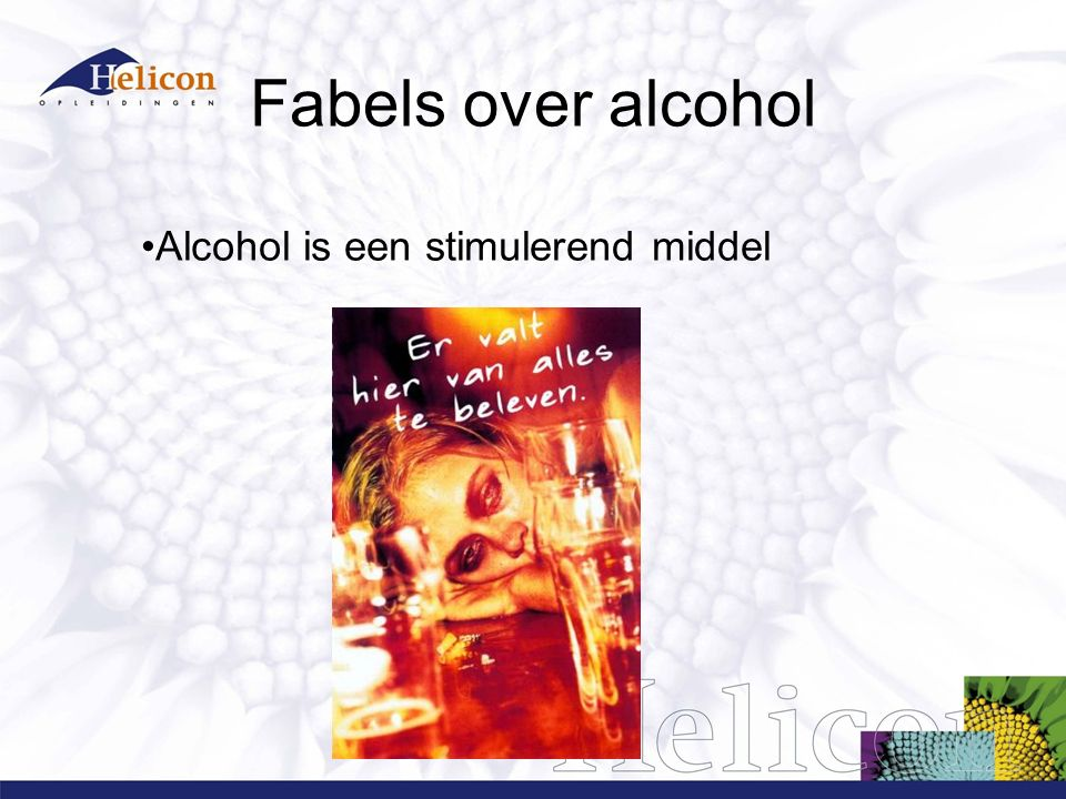 Fabels over alcohol Alcohol is voedzaam