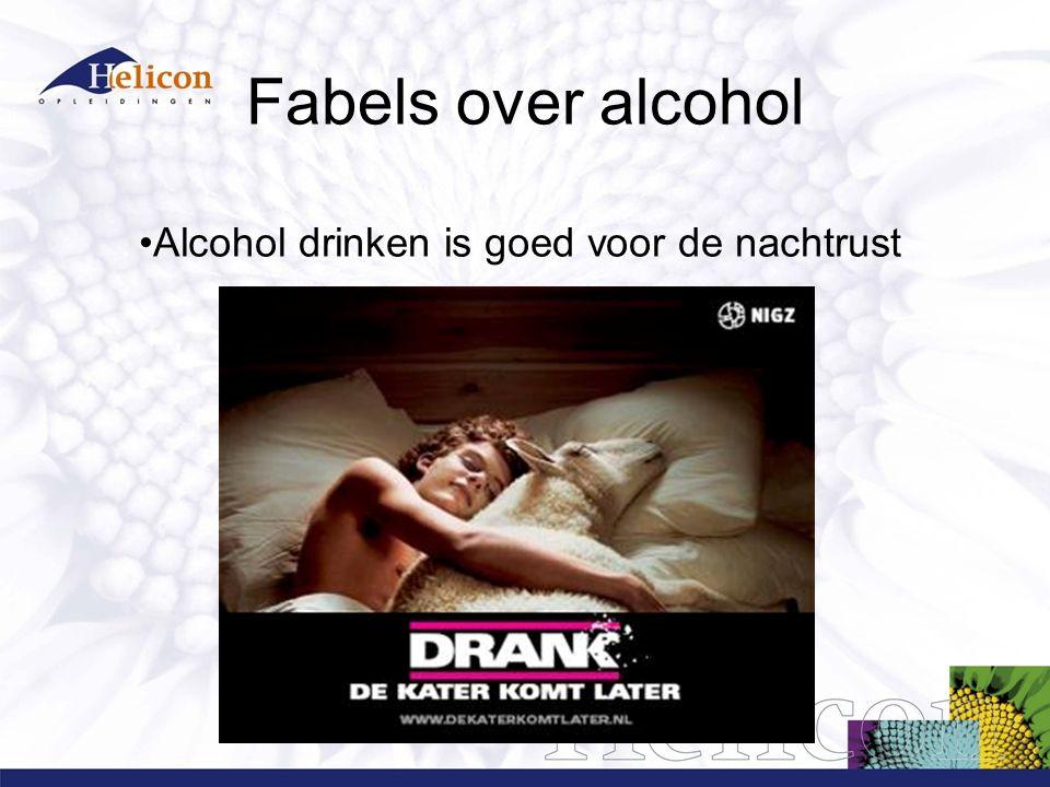 Alcohol geniet maar drink met maten