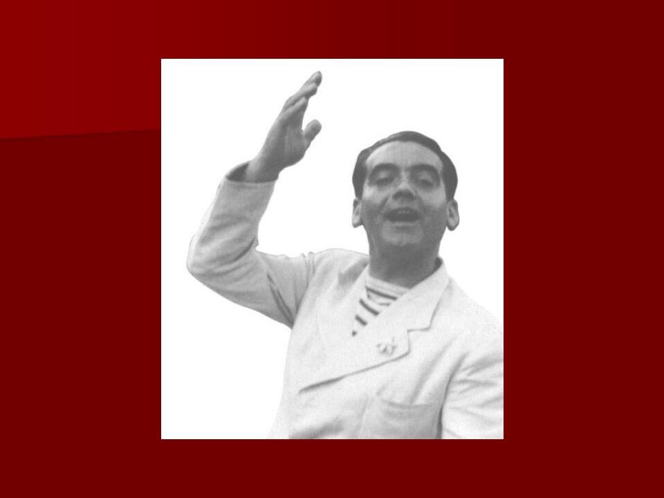 Leider Generatie van 27: Leider Generatie van 27: Federico García Lorca Federico García Lorca1898-1936