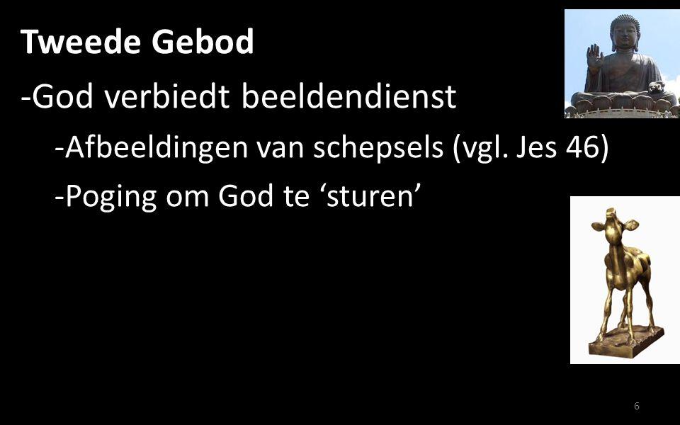 Tweede Gebod -God verbiedt beeldendienst -Afbeeldingen van schepsels (vgl.