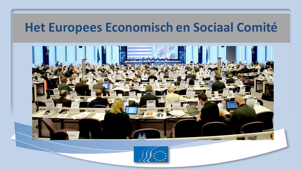 Adviesorgaan, opgericht in het kader van het verdrag van Rome (1957), art 304 tu TFUE Vertegenwoordigt het georganiseerde maatschappelijk middenveld Wat is het EESC.