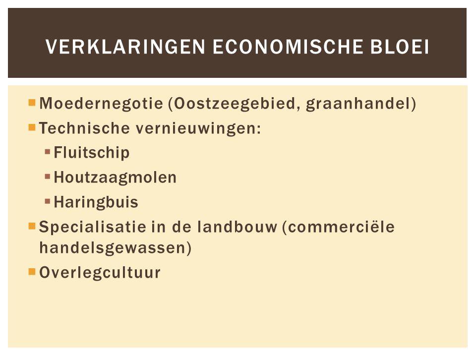  De economische bloei maakt reizen buiten- Europa mogelijk  Kooplieden moeten wel samenwerken in compagnieën (kapitaal via aandelen)  1602 samenvoeging van de compagnieën op de Oost in de VOC (WIC op de West pas in 1621) COMPAGNIEËN
