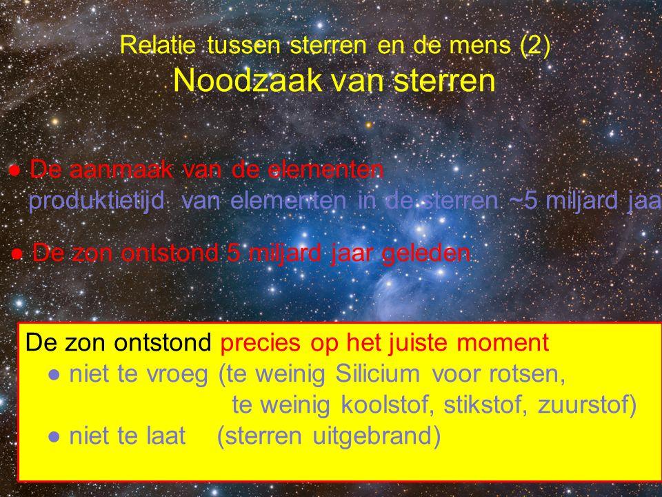 Relatie tussen sterren en de mens (2) Noodzaak van sterren