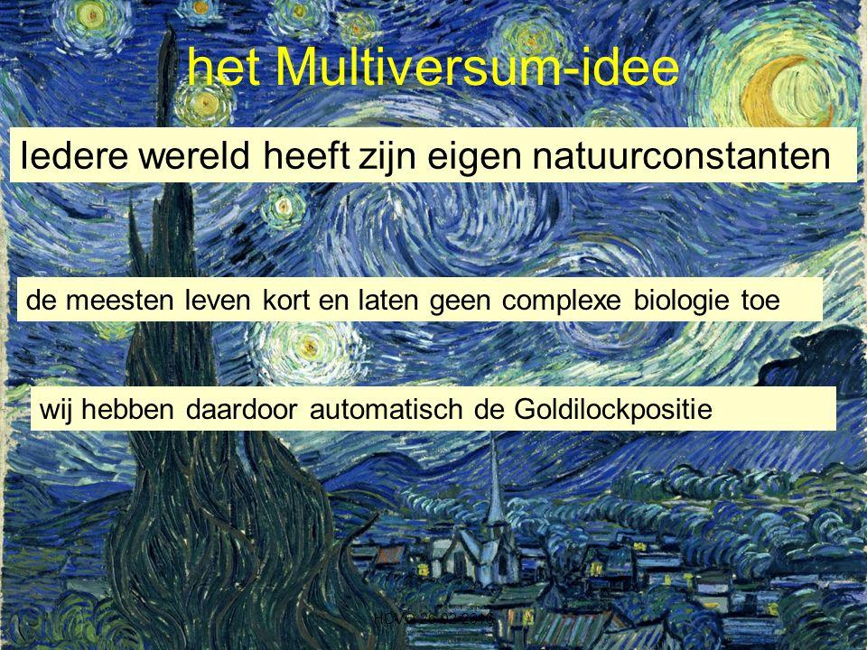 het Multiversum-idee Iedere wereld heeft zijn eigen natuurconstanten